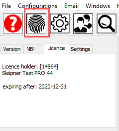 44 license tab with mypagebutton